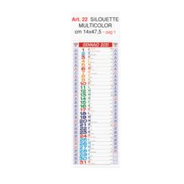 Calendario silhouette Art. 22, stampa testata personalizzata