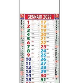 Calendario multicolor Art. 23, testata personalizzata