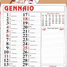 Calendario appunti Art.21 con vermiglione personalizzato