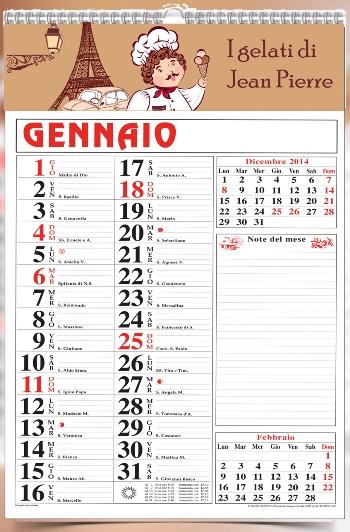 Calendario Per Appunti.Calendario Appunti Art 21 Con Vermiglione Personalizzato