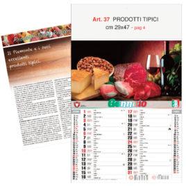 Calendario Prodotti Tipici,12 fogli, Art. 37 grafica testata personalizzabile