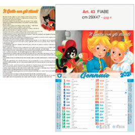 Calendario Fiabe 12 fogli, Art. 43 grafica testata personalizzabile