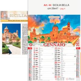 Calendario Sicilia bella 12 fogli, Art. 44 grafica testata personalizzabile