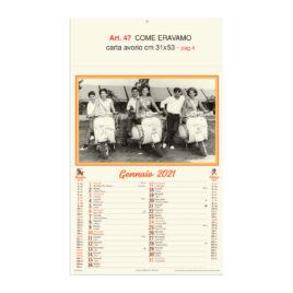 Calendario Come eravamo 12 fogli, Art. 47 grafica testata personalizzabile