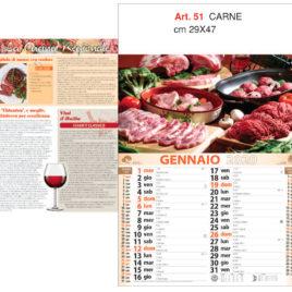 Calendario Carne figurativo, Art. 51 grafica testata personalizzabile