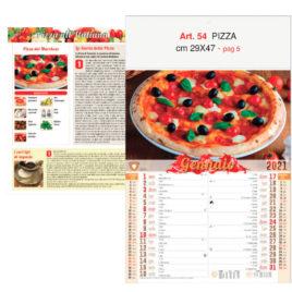 Calendario Pizza 12 fogli figurativo, Art. 54 grafica testata personalizzabile