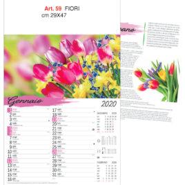 Calendario fiori, Art. 59 grafica testata personalizzabile