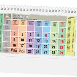 Calendario da tavolo multicolor, Art.66 grafica personalizzabile
