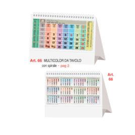 Calendario da tavolo multicolor, Art.66 grafica personalizzabile