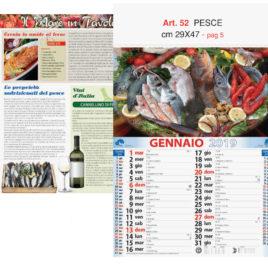 Calendario Pesce figurativo, Art. 52 grafica testata personalizzabile