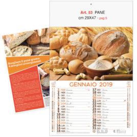 Calendario Pane figurativo 12 Fogli, Art. 53 grafica testata personalizzabile