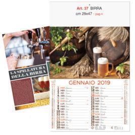 Calendario Birra,12 fogli, Art. 37 grafica testata personalizzabile