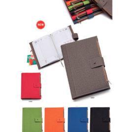 Agenda portafoglio in materiale termovirante, con la stampa del logo della tua azienda,  Art. A41