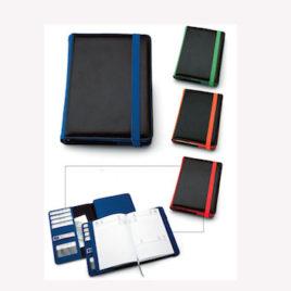 Agenda portafoglio doppio in pu Art. A46, con la stampa del logo della tua azienda