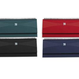 Planning settimanale da tavolo con la stampa del logo della tua azienda, colori scuri Art. A88
