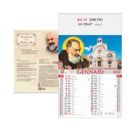 Calendario Padre Pio 12 fogli, Art. 41 grafica testata personalizzabile