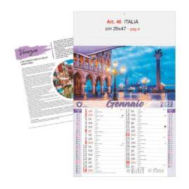 Calendario Italia figurativo, Art. 46 grafica testata personalizzabile