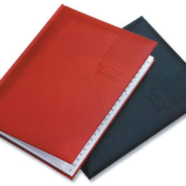 Rubrica da tavolo in finta pelle colori assortiti con la stampa del logo della tua azienda,  Art. R10