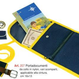 Portadocumenti da collo, Art. 207 con stampa logo e grafica personalizzata.