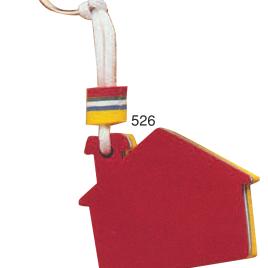 Portachiavi galleggiante casetta con la stampa del tuo logo  Art. 526