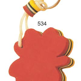 Portachiavi galleggiante quadrifoglio con la stampa del tuo logo  Art. 534