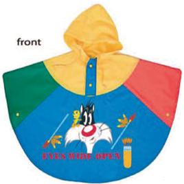 Poncho/mantellina bimbi tricolore art. 923 con la stampa del tuo logo