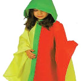 Poncho mantellina bimbi tricolore art. 924 con la stampa del tuo logo