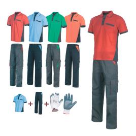 Divisa polo + pantalone + guanti art. lv12 con la stampa del tuo logo.