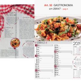 Calendario Gastronimia figurativo, Art. 50 grafica testata personalizzabile