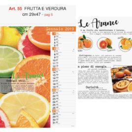 Calendario Frutta e Verdura figurativo, Art. 55 grafica testata personalizzabile
