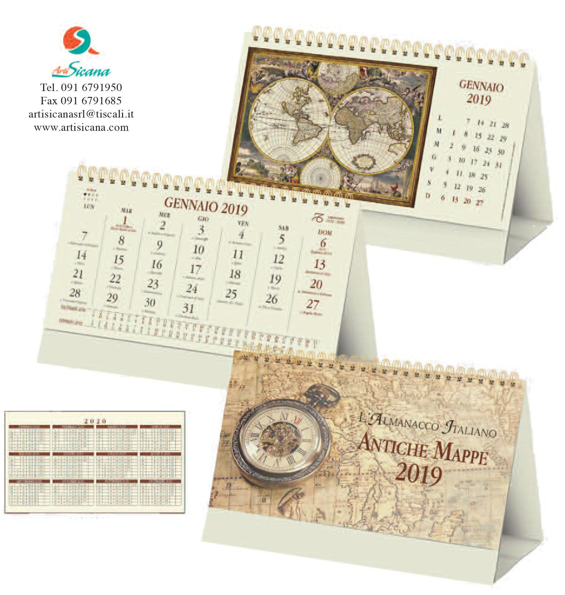 Calendario Antico.Calendario Antiche Mappe Da Tavolo Art 69 Grafica Personalizzabile