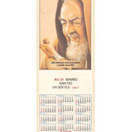 Calendario San Pio in bambù figurativo, Art. 61 personalizzabile