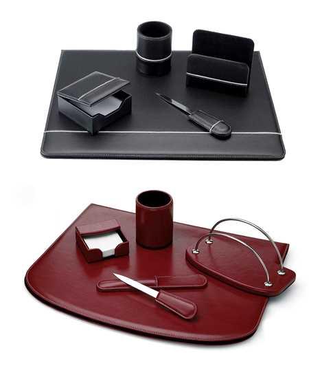 Set da scrivania in ecopelle artisicana for Scrivania avvocato