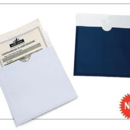 Portabollo singolo auto europeo con fascia trasparente, Art. 395 con il logo della tua azienda