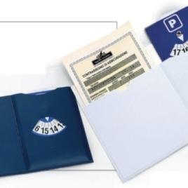 Portabollo auto europeo con disco orario, Art. 397 con il logo della tua azienda