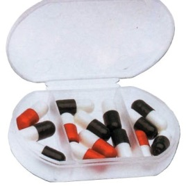 Portapillole in PVC rigido, Art. 409 con il logo della tua azienda