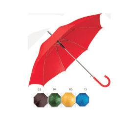 Ombrello a manico curvo in plastica, Art. 453 con il logo della tua azienda