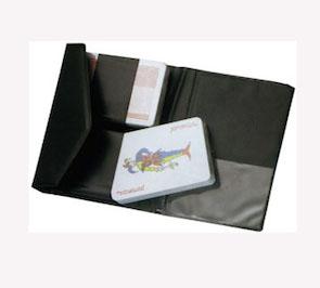 Carte da gioco con custodia in PVC, Art. 618 con la stampa del tuo logo