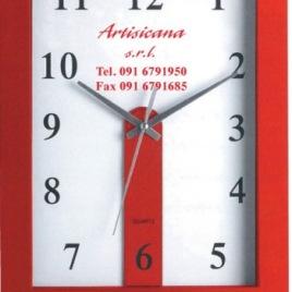 Orologio da parete rettangolare, Art. 647 personalizzabile con la stampa del tuo logo