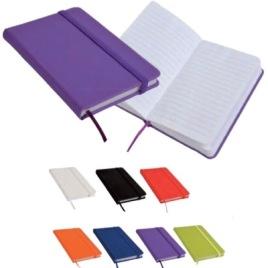 Quaderno in gommato con elastico, Art. 660 con la stampa del tuo logo