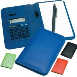 Calcolatrice con custodia cm. 13x8x1.5, Art. 690 con stampa logo
