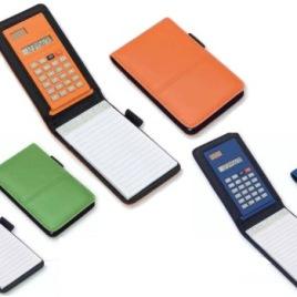 Calcolatrice con custodia cm. 8,5×13,5×1,5, Art. 691 con stampa logo