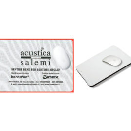 Tappetino mouse morbido in poliestere Art. 703 con stampa logo