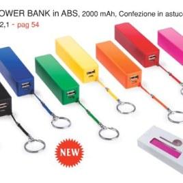 Power bank in ABS, Art. 658 con il logo della tua azienda