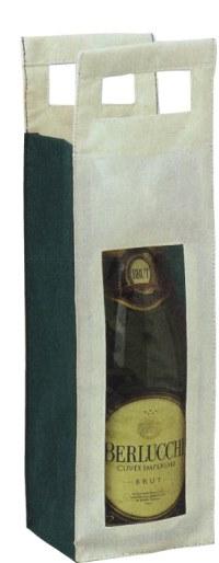 Borsa Portabottiglia 1 posto in TNT, Art. 678 con stampa logo
