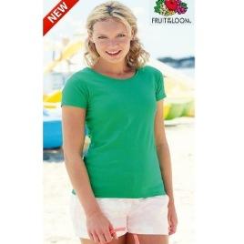 Maglietta Fruit of the Loom Valueweight Colorata Donna Art. 261FC con la stampa del tuo logo