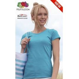 Maglietta Fruit of the Loom Colorata Donna Art. 295 con la stampa del tuo logo