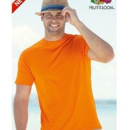 Maglietta Fruit of the Loom Valueweight Colorata Uomo Art. 260FC con la stampa del tuo logo