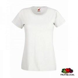 Maglietta Fruit of the Loom Valueweight Bianco Donna Art. 261FB con la stampa del tuo logo