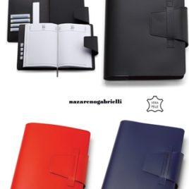 Agenda portafoglio Nazareno Gabrielli in cuoio rigenerato con la stampa del logo della tua azienda,  Art. A43